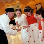 Chef and flower girls
