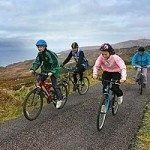 Family cycling Leitrim