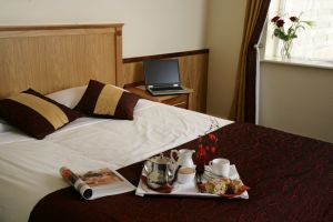Bush Hotel bedroom with Tea Tray