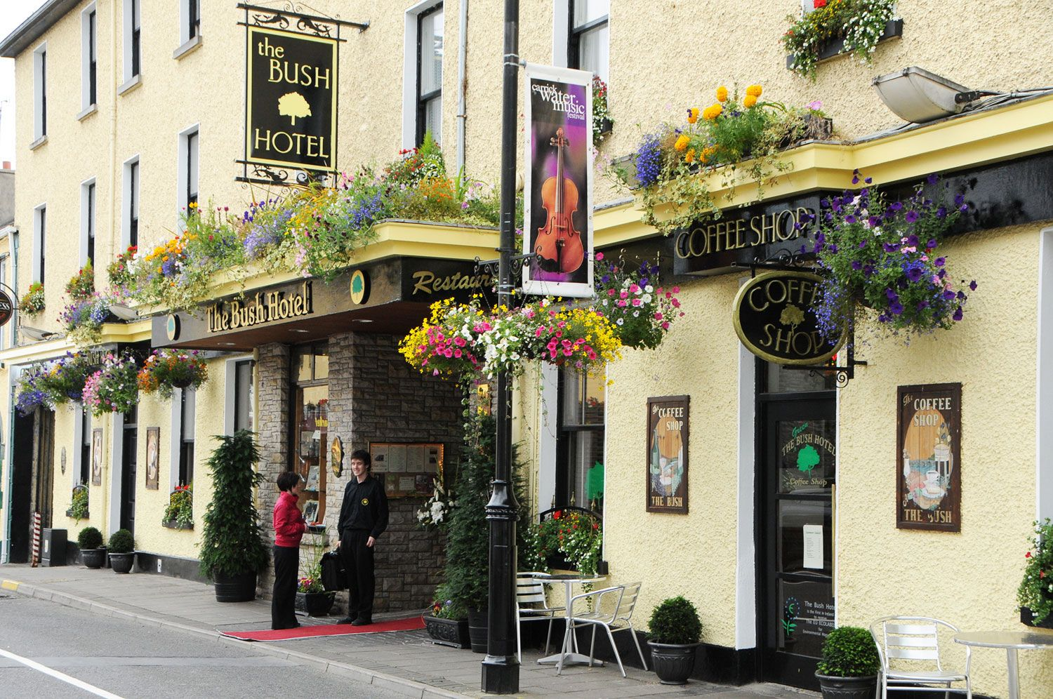 The Front of the Bush Hotel Carrick on Shannon