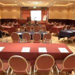 Conference room set up in the Bush Hotel