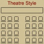 Theatre style conference room