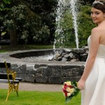 Bride in Bush Hotel Formal Gardens