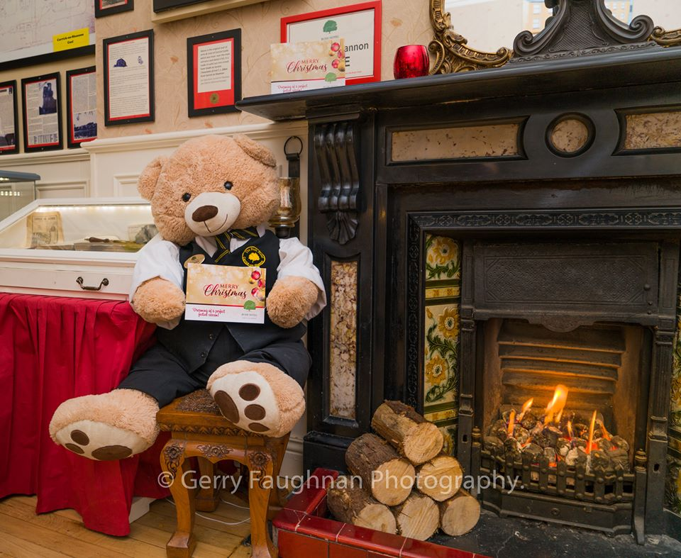 basil by the fireside at christmas
