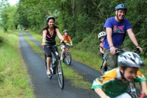 Family on the Electric Bike Trail, Carrick-on-Shannon